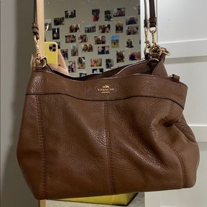 Coach SUPER soft leather brown purse!